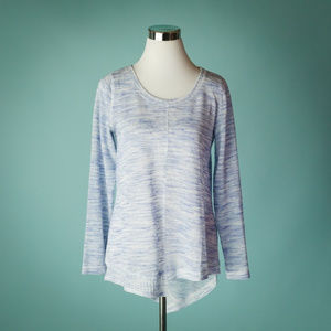 Anthro Akemi + Kin S Blue Space Dye Sweater